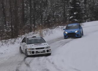 Ford Focus RS vs αγωνιστικό Subaru Impreza STI (+video)