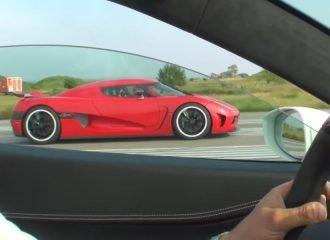 Koenigsegg Agera R αφήνει «παγωτό» μια Ferrari 458 Italia