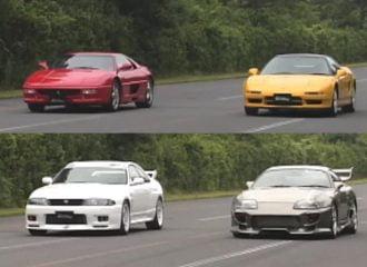 Επικές κόντρες Ferrari F355 VS Honda NSX και Nissan GT-R vs Toyota Supra