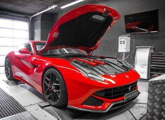 Τσιπαρισμένη Ferrari f12berlinetta στο δυναμόμετρο