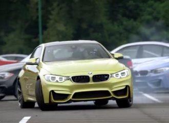 Η BMW M4 ντριφτάρει ανάμεσα σε 54 άλλες BMW M! (video)