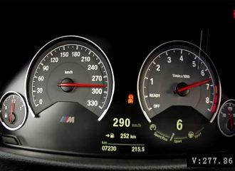 0-290 χλμ./ώρα με νέα BMW M3 6τάχυτη χειροκίνητη (video)