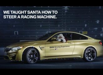 O Άι Βασίλης θα μοιράσει τα δώρα με BMW M4! (video)