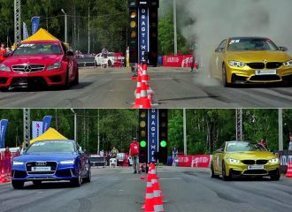 BMW M4 550hp VS Audi RS 7 700hp και Mercedes C 63 AMG 700hp