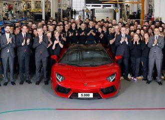 Ρεκόρ παραγωγής 5.000 Lamborghini Aventador!