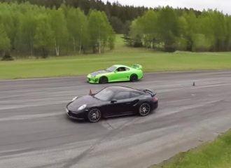 Porsche 911 Turbo S vs Toyota Supra 1000+hp