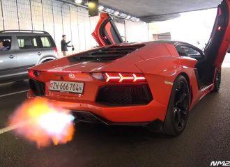 Lamborghini Aventador βάζει φωτιά στο Μονακό!