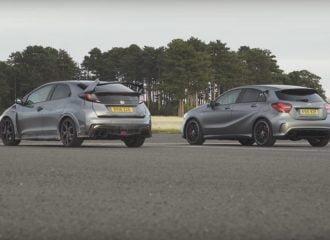 Honda Civic Type R vs Mercedes-AMG A45 (+video)