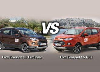 Συγκριτικό Ford EcoSport: βενζίνη VS diesel