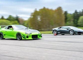 Θαρραλέα Toyota Supra τα βάζει με Lamborghini Huracan (+video)