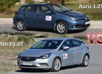 Συγκριτικό Opel Astra 1.0 turbo VS Toyota Auris 1.2 turbo