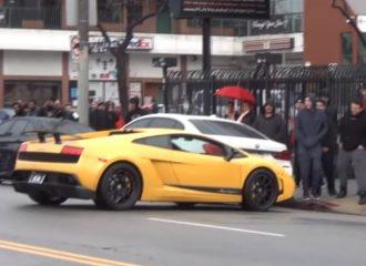 Οδηγός με Lamborghini Gallardo είχε… Άγιο! (video)