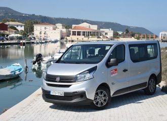 Στη Λευκάδα με το 9θέσιο diesel Fiat Talento 1.6 Ecojet