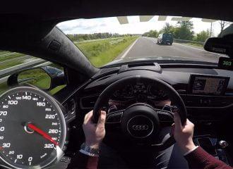 300άρες στην Autobahn με Audi RS 6 700 ίππων (video)