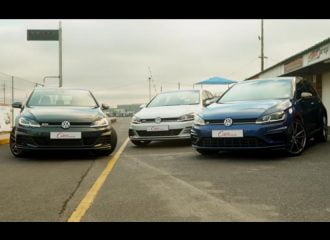 Η μάχη των VW Golf: GTI vs GTD vs R στην πίστα (video)