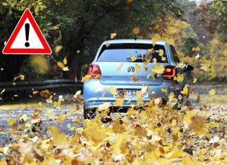 Προσοχή στα πεσμένα φύλλα στους δρόμους!