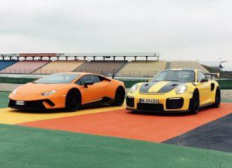 Porsche 911 GT2 RS εναντίον Lamborghini Huracan Performante στην πίστα (+video)