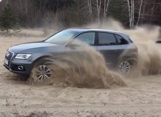 Τετρακίνητα Audi δεν κολλάνε με τίποτα…  (+video)