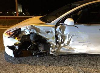 Ατύχημα με αυτόνομη οδήγηση σε Tesla Model 3 στην Ελλάδα (+video)