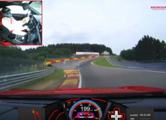 To video του Honda Civic Type R από το ρεκόρ στο Spa-Francorchamps