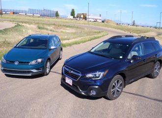 VW Golf Alltrack vs Subaru Outback (+video)
