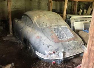 Σπάνια Porsche 356B Super 90 βρέθηκε παρατημένη