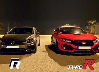 Honda Civic Type R ταπεινώνει VW Golf R (+video)