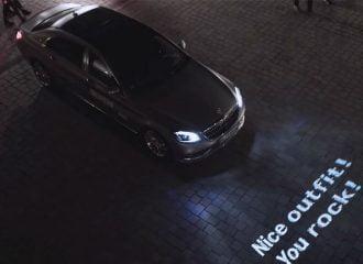 Απίστευτη τεχνολογία της Mercedes με φώτα που μιλάνε! (+video)
