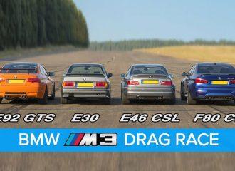 Εμφύλιος ανάμεσα σε τέσσερις γενιές BMW M3 (+video)