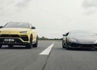 «Εμφύλιος» μεταξύ Lamborghini Urus και Huracan (+video)