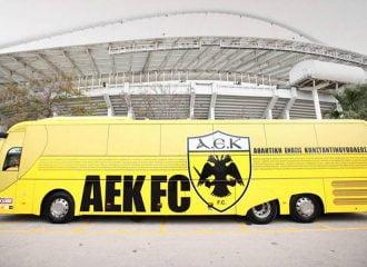 Η απίστευτη πινακίδα του νέου λεωφορείου της ΑΕΚ