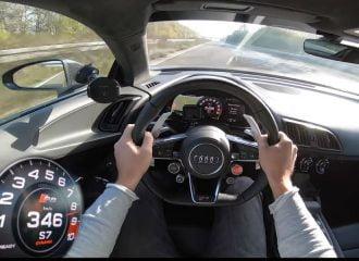 Audi R8 1.000 ίππων πιάνει 350 χλμ./ώρα στην Autobahn (+video)