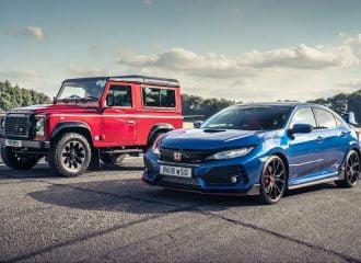 Μπορεί το Defender των 405 PS να κερδίσει το Civic Type R; (+video)