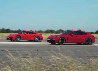 Εμφύλιος στην Porsche: γνήσιο εναντίον υβριδικού Turbo S (+video)