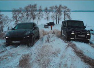 Κόντρες στα χιόνια μεταξύ πολυτελών SUV (+video)