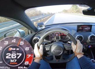 Audi RS 3 Sedan με το γκάζι στο πάτωμα! (+video)