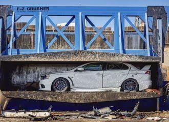 Τραγικό τέλος του τελευταίου Mitsubishi Lancer Evo (+video)