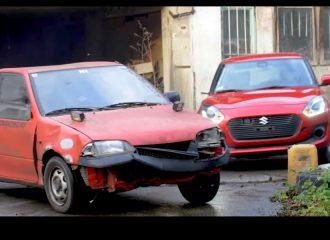 Gymkhana με νέο και παλιό Suzuki Swift (+video)