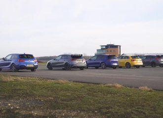 Mercedes-AMG A 35 vs S3, M140i, Focus RS, Golf R (video)