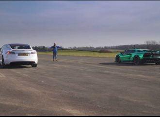 Τesla κοντράρει στα ίσια Lamborghini  (+video)