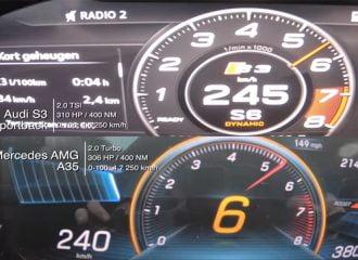 Mercedes-AMG A 35 vs Audi S3 έως τα 250 χλμ./ώρα!