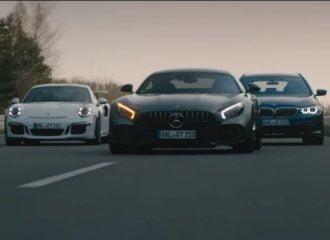 H BMW «παίζει φώτα» σε Mercedes και Porsche! (+video)
