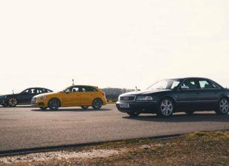 Audi S8 1ης γενιάς τα βάζει με S3 και Α8 V6 TDI (+video)