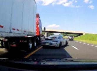 Οδηγός σώθηκε λόγω αντανακλαστικών! (+video)