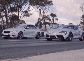 BMW M2 ρίχνει καρότσα σε Toyota Supra (+video)