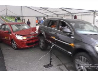 Crash test με μικρό αυτοκίνητο και μεγάλο SUV (+video)
