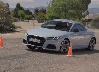 Άνετο το Audi TT Roadster στον «τάρανδο» (+video)