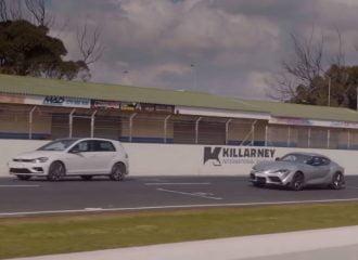 VW Golf R «ανάβει αλάρμ» στην Toyota Supra (+video)
