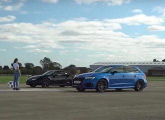Alfa Romeo 4C τα βάζει με Audi RS 3 (+video)