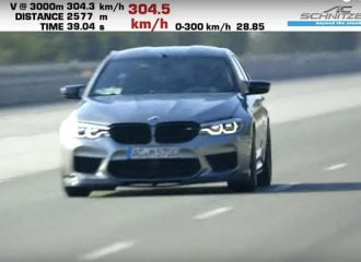 BMW M5: 0-300 χλμ./ώρα σε 28 δλ.! (+video)